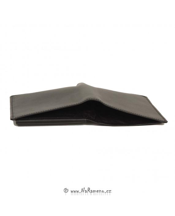 Černá pánská peněženka HIDESIGN na doklady 039