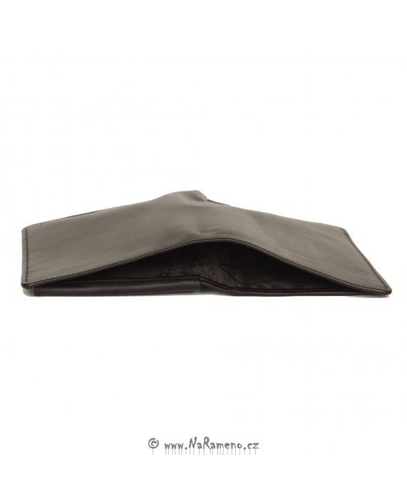 Vysoká tmavě hnědá pánská peněženka HIDESIGN z kůže 039