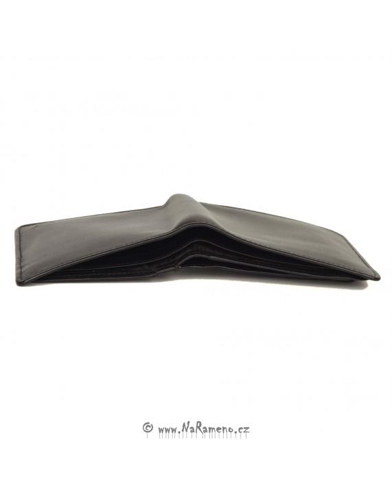 Černá pánská peněženka HIDESIGN s vyjímatelnou dokladovkou 076