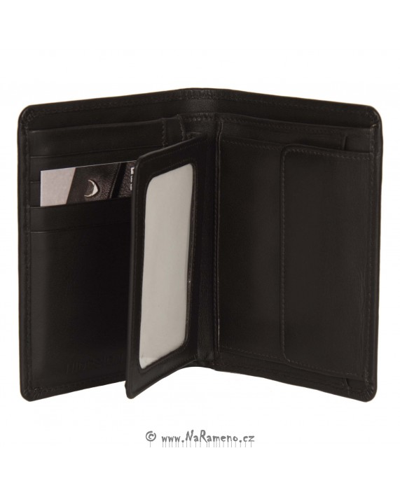 Dvoudílná peněženka HIDESIGN na výšku pro může 076 tmavě hnědá