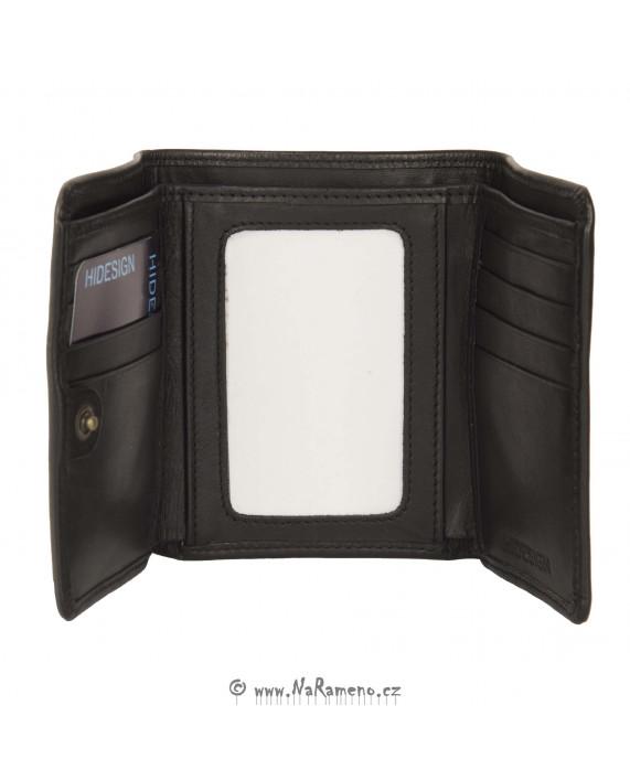 Praktická a skladná peněženka HIDESIGN pro muže 1401-002 černá