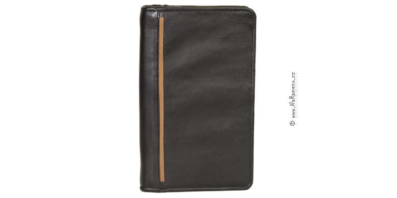 Dlouhá pánská peněženka HIDESIGN na doklady na zip 1444 černá