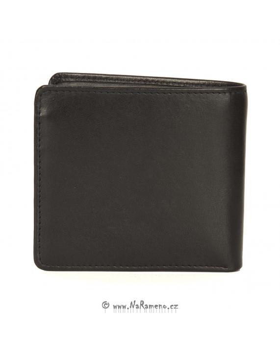 Kožená černá peněženka HIDESIGN na karty a bankovky 229-017