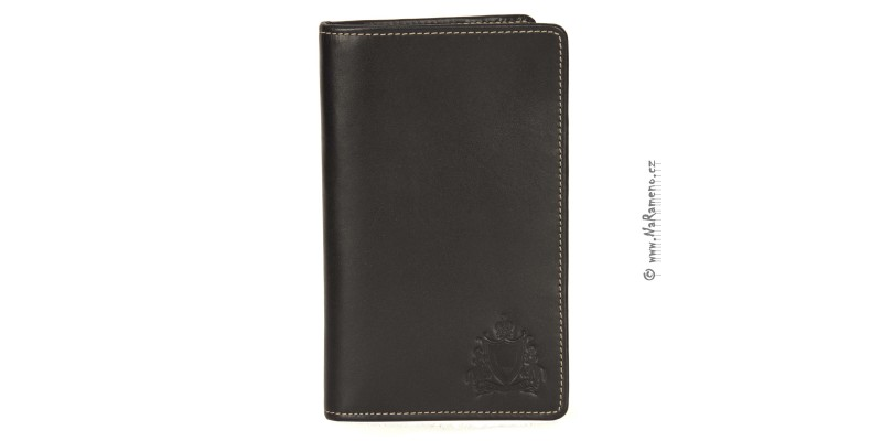 Černé pouzdro HIDESIGN na doklady, karty a pas 229-1041-02