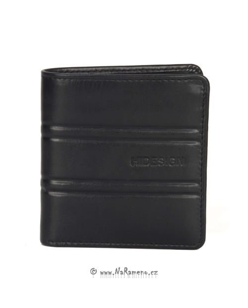 Kompaktní slim peněženka HIDESIGN pro pány 249-F150 černá