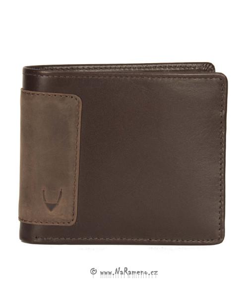 Hnědá pánská peněženka HIDESIGN na bankovky a hodně karet 250-2021A