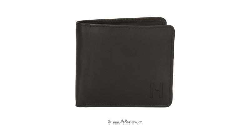 Peněženka HIDESIGN střední velikosti bez zapínání 254-010 černá