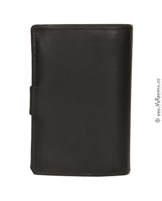 Pánská peněženka HIDESIGN na doklady s prostorným mincovníkem 254-PH černá