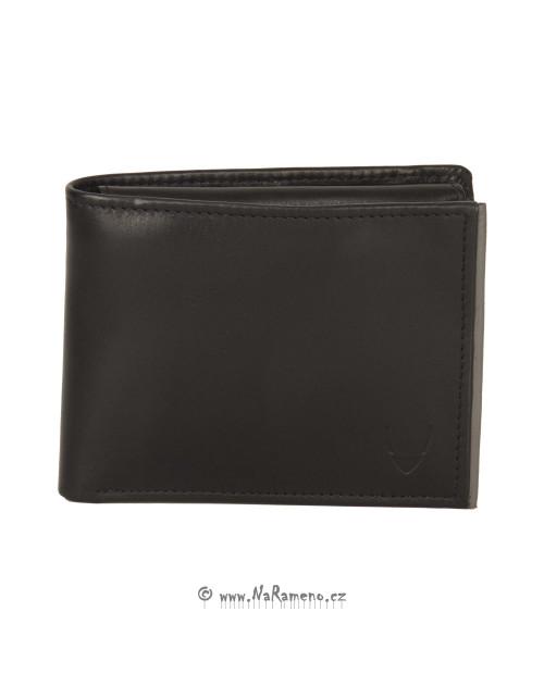 Kompaktní černá peněženka HIDESIGN se zipem na bankovky pro může 264L-109F