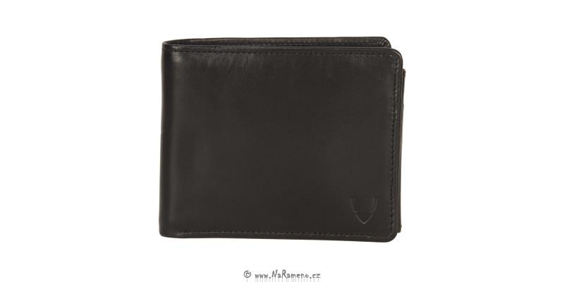 Klasická černá pánská peněženka HIDESIGN na hodně karet 987