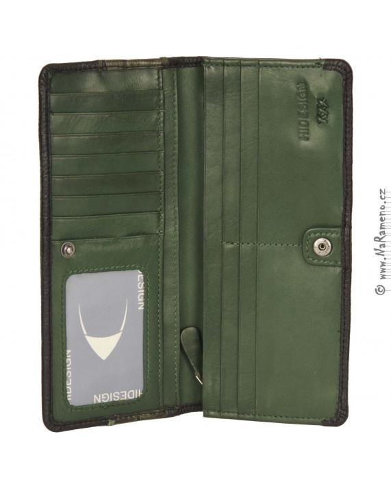 Dámská kožená multibarevná peněženka HIDESIGN Acropolis W1 (542)