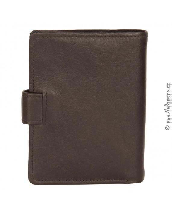 Hnědý kožený zápisník HIDESIGN s kapsami na karty a bankovky C-06