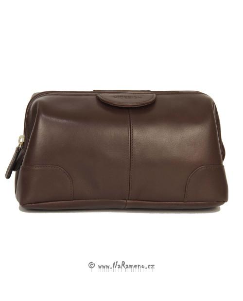 Kosmetická kožená taška HIDESIGN pro ženy Capri světle hnědá