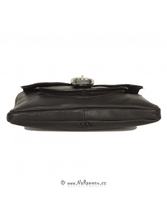 Dámská černá kožená kapsa HIDESIGN do ruky Danube-01