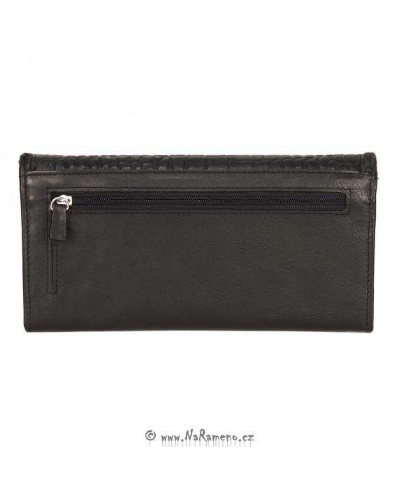 Černá dámská peněženka HIDESIGN s krokodýlím vzorem Janet W1