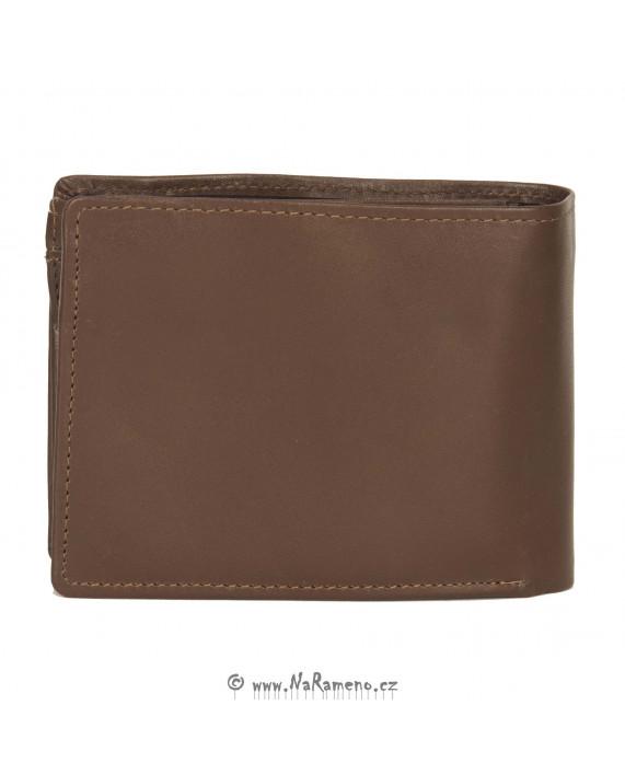 Praktická světle hnědá peněženka HIDESIGN s vnitřním zipem na bankovky L-103