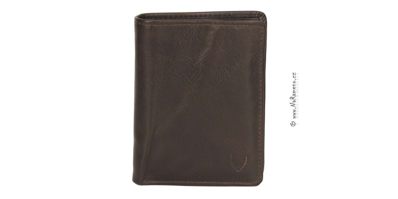 Pánská hnědá kožená peněženka HIDESIGN na výšku s vnitřní zápinkou L-108