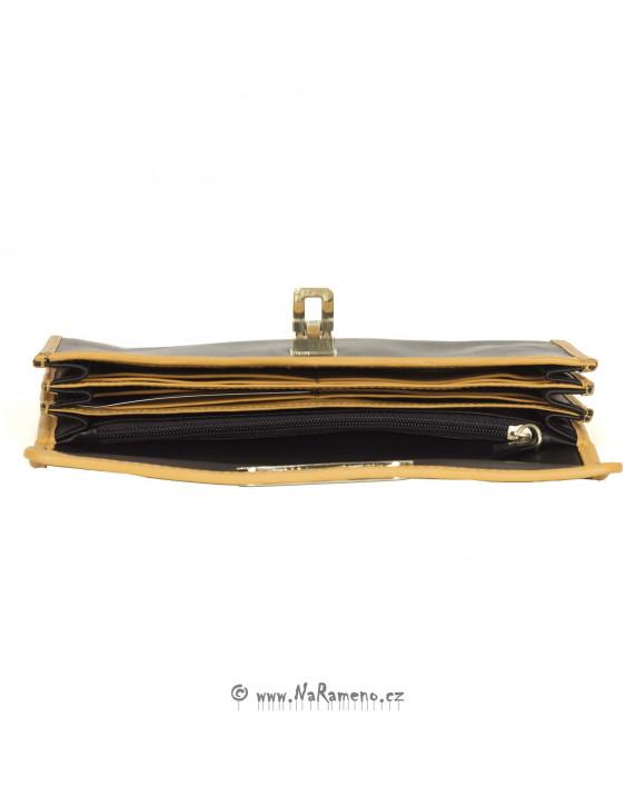 Stylová peněženka HIDESIGN s kontrastním lemováním pro ženy Nina W2 černá