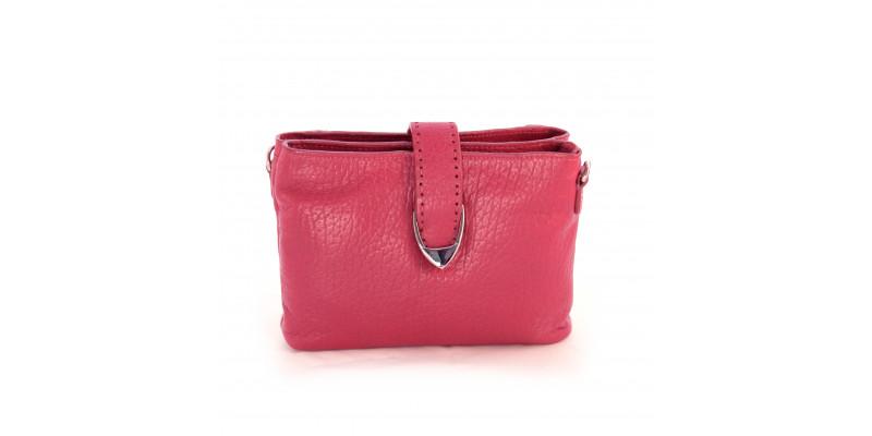 Crossbody taštička HIDESIGN na mobil, peněženku a drobnosti Norah W1 růžová