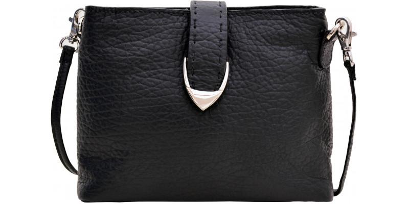 Kožená kapsa HIDESIGN na dvě oddělení na zip Norah W1 černá