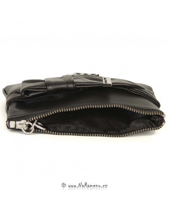 Dámská kožená kapsa HIDESIGN na zip Pompidou W1 černá
