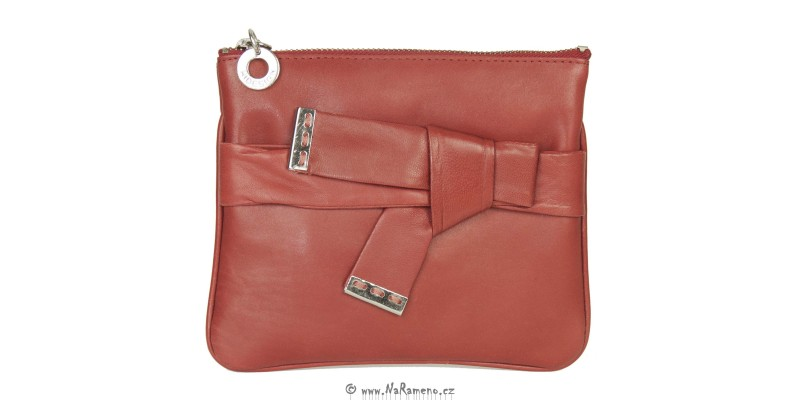 Dívčí červená kožená kabelka HIDESIGN Pompidou W1