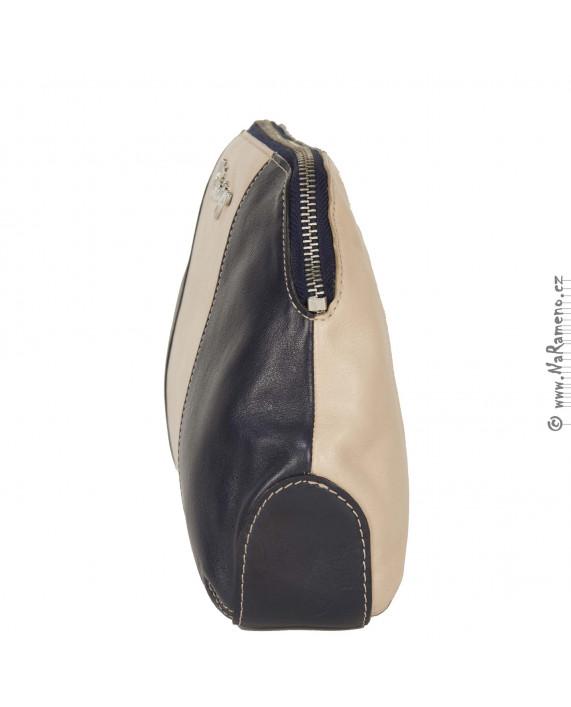 Dámská kožená toaletní taška HIDESIGN na kosmetiku Suzanne W3 tělové barvy