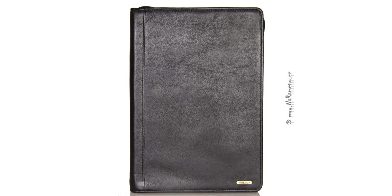 Kožené konferenční desky C-01 černé na formát A4 otevírací jako knížka od HIDESIGN